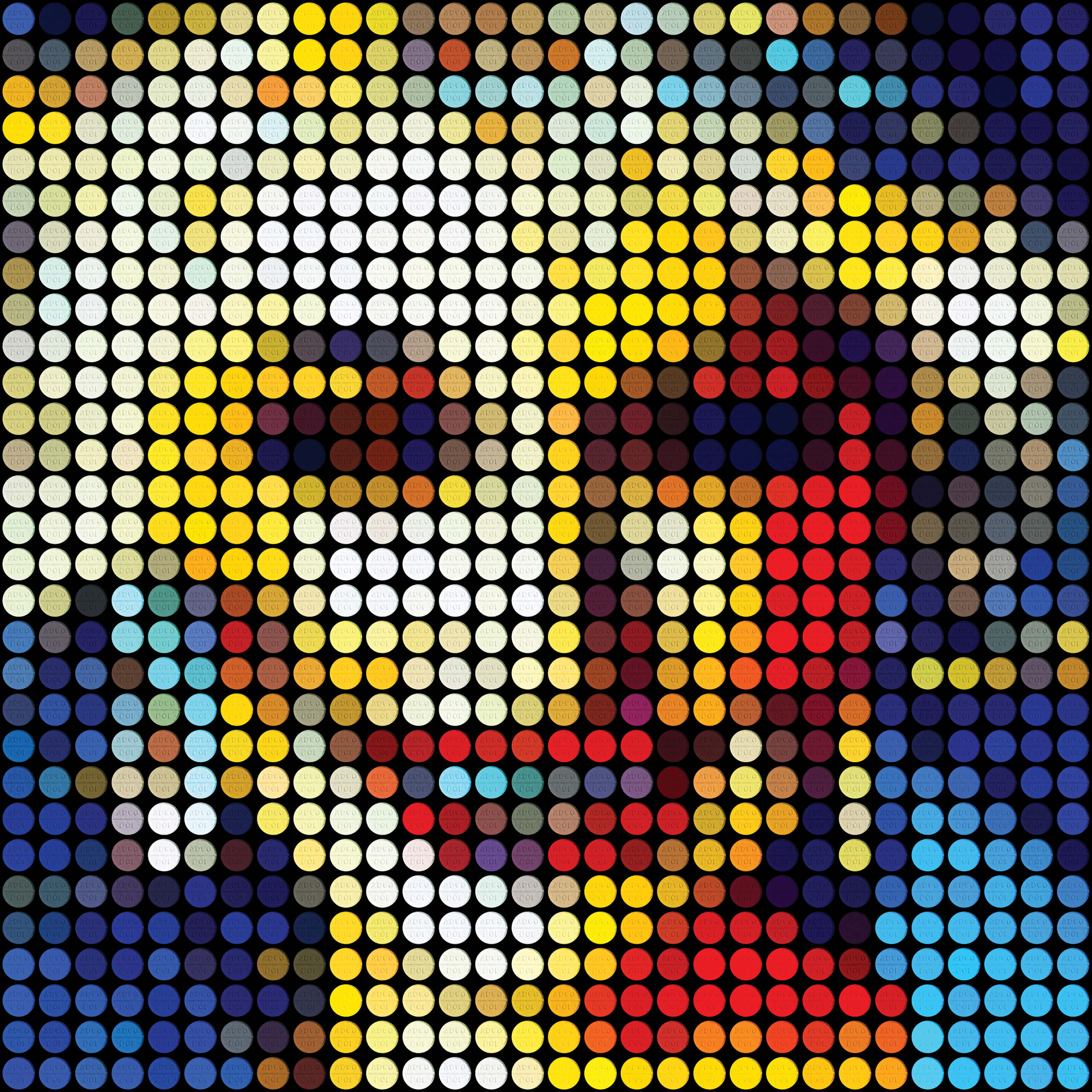Artwork: Dolly on Dolly (2019) | Reiner Swanepoel | Digital graphic print, 21cm x 21cm | Onomatopoeia, Port Elizabeth | R50.00 per digital file